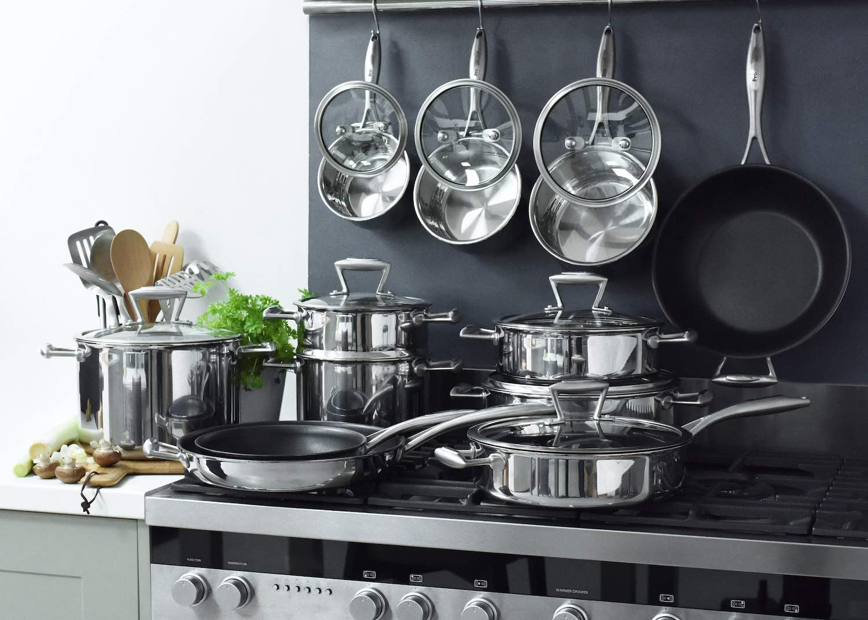 ProCook Elite TriPly Stainless Steel cookware set 12 piece