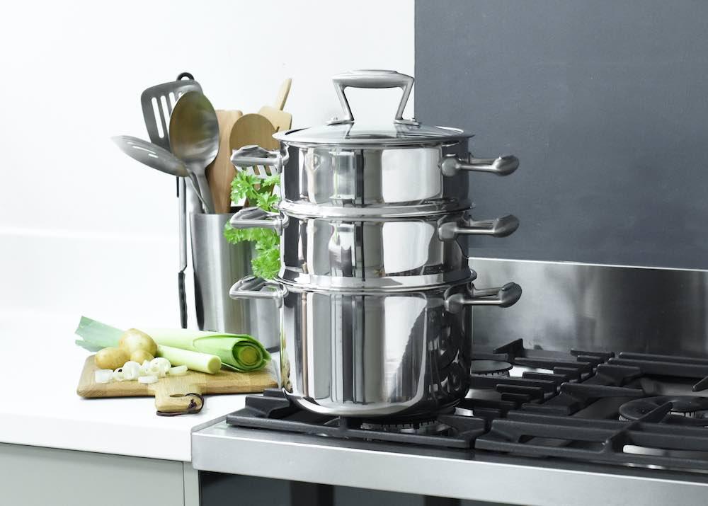 ProCook, Elite TriPly stainless steel steamer set