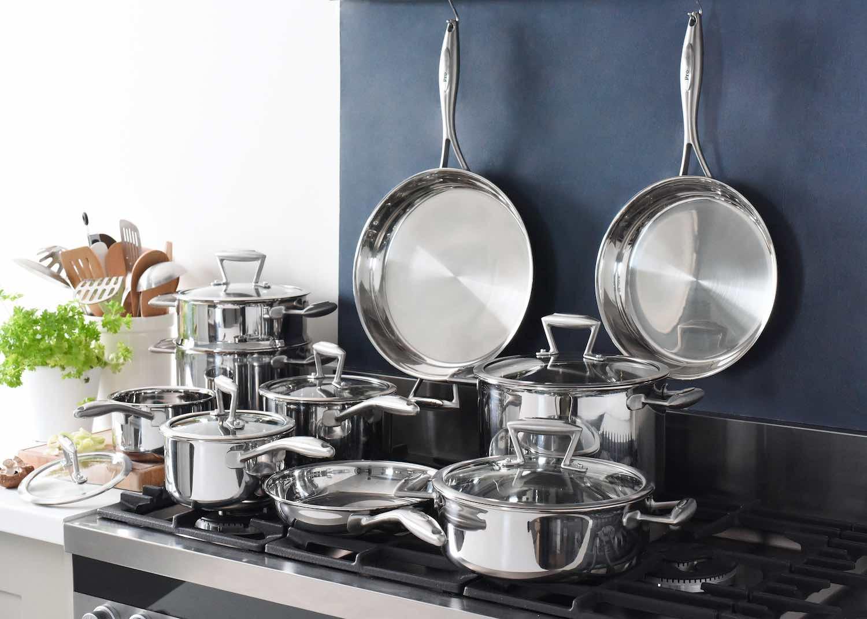 ProCook Elite TriPly unciated stainless steel cookware 10 piece