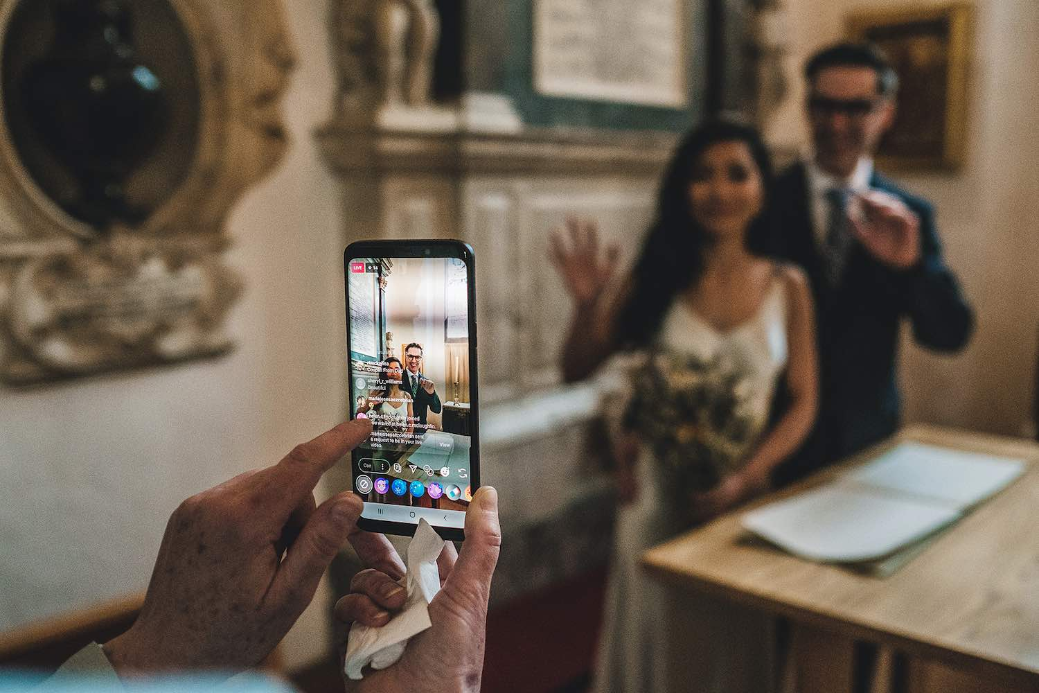 Sabina Motasem How to have virtual intimate and beautiful zoom wedding